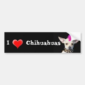 J'aime l'adhésif pour pare-chocs de chiwawas autocollant pour voiture