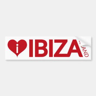 j'aime l'adhésif pour pare-chocs d'île d'Ibiza Autocollant De Voiture