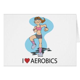 J'aime l'aérobic cartes