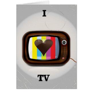 J'aime l'affiche de bande dessinée de TV Carte De Vœux
