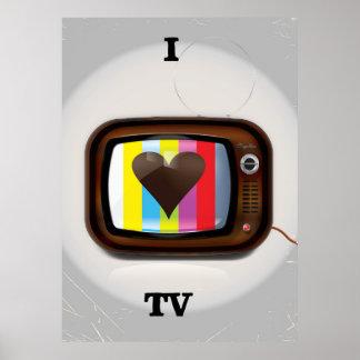 J'aime l'affiche de bande dessinée de TV Poster