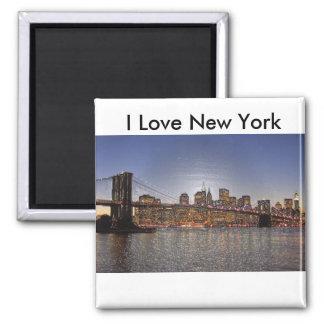 J'aime l'aimant de New York Magnet Carré