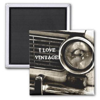 J'aime l'aimant vintage magnet carré