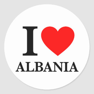 J'aime l'Albanie Sticker Rond