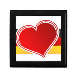 J'aime l'Allemagne Petite Boîte À Bijoux Carrée