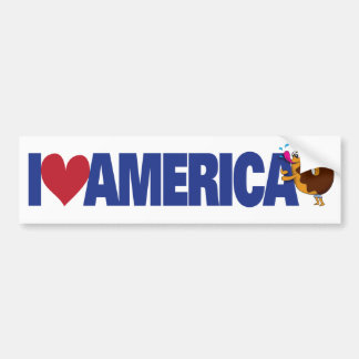 J'aime l'Amérique Autocollant De Voiture