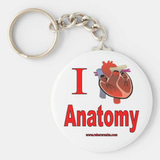 J'aime l'anatomie porte-clé rond