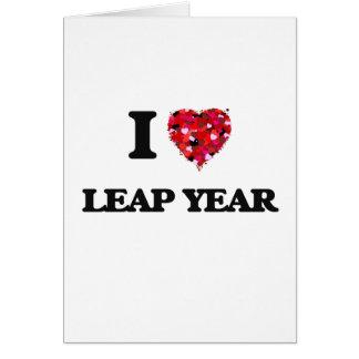 J'aime l'année bissextile carte de vœux