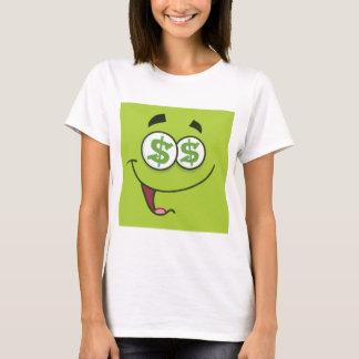 J'aime l'argent Emoji carré T-shirt