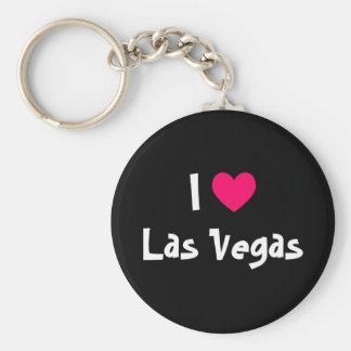 J'aime Las Vegas Porte-clé Rond