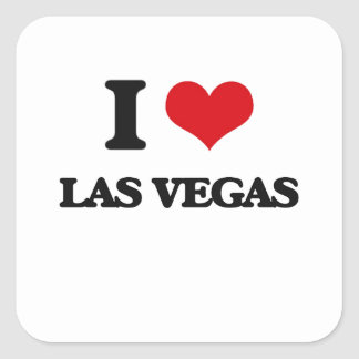 J'aime Las Vegas Sticker Carré