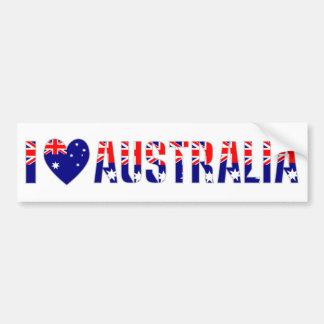 J'aime l'Australie (foncée) Autocollant Pour Voiture