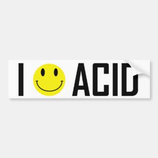 J'aime l'autocollant acide 2 autocollant de voiture