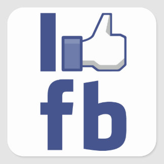J'AIME l'autocollant de Facebook Sticker Carré
