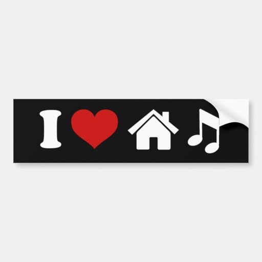 J'aime l'autocollant de musique de Chambre Adhésifs Pour Voiture