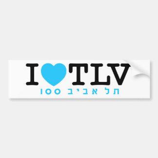 J'aime l'autocollant de Tel Aviv | Autocollant De Voiture