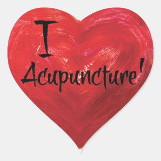 J'aime l'autocollant en forme de coeur sticker cœur