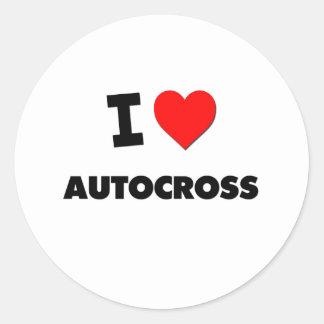 J'aime l'autocross sticker rond