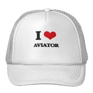 J'aime l'aviateur casquette trucker