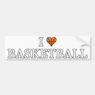 J'aime le basket-ball autocollant pour voiture