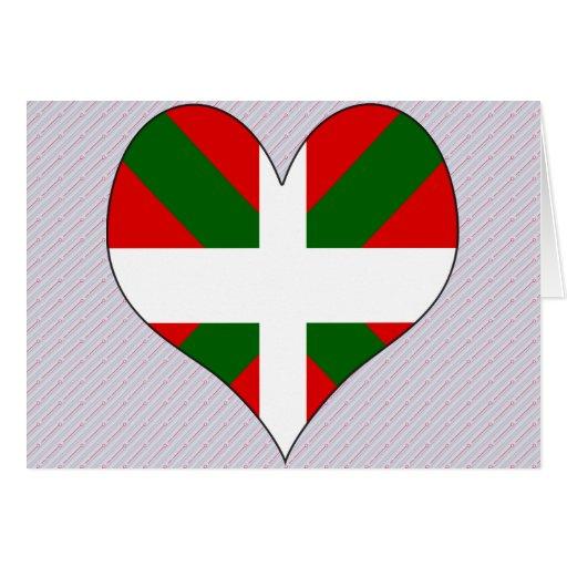 J'aime le basque carte de vœux