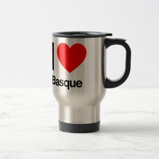 j'aime le basque mug de voyage en acier inoxydable