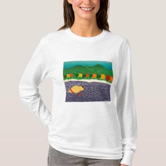 j'aime le bâton-Automne en Vermont-Stephen Huneck T-shirt