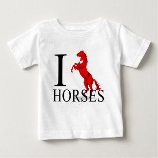 J'aime le bébé de chevaux t-shirts