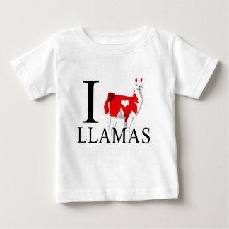 J'aime le bébé de lamas t-shirts