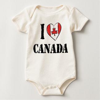 J'aime le bébé de T-shirt du Canada