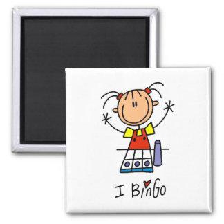 J'aime le bingo-test magnet carré