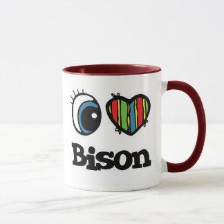 J'aime le bison (de coeur) mug