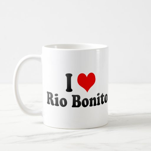 J'aime le bonito de Rio, Brésil Mugs À Café