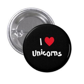 J'aime le bouton de licornes badge