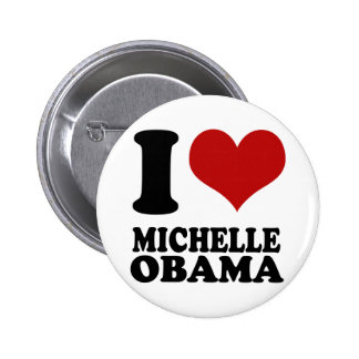 J'aime le bouton de Michelle Obama Badge Rond 5 Cm