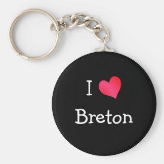 J'aime le breton porte-clé rond