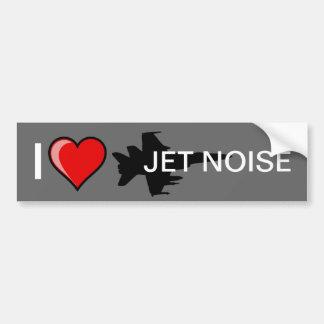 J'aime le bruit de jet autocollant de voiture