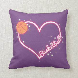 J'aime le cadeau de coussin de basket-ball
