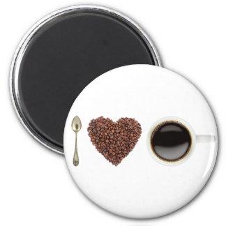 J'aime le café 01 magnet rond 8 cm