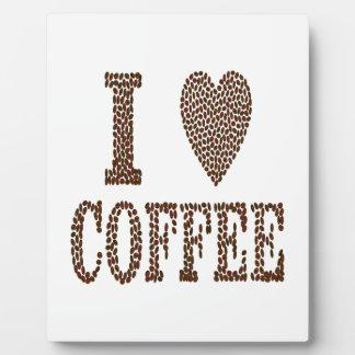 J'aime le café plaque photo