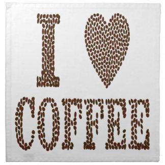J'aime le café serviettes de table