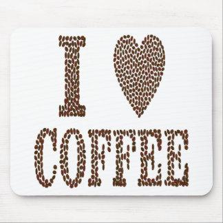 J'aime le café tapis de souris