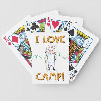 J'aime le camp - colonie de vacances drôle cartes à jouer