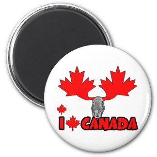 J'aime le Canada Aimants Pour Réfrigérateur