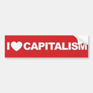 J'aime le capitalisme autocollant de voiture
