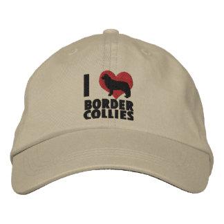 J'aime le casquette brodé de colleys de frontière