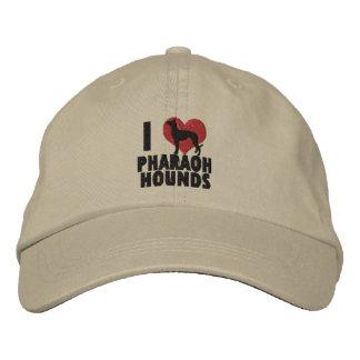 J'aime le casquette brodé par chiens de pharaon casquette brodée