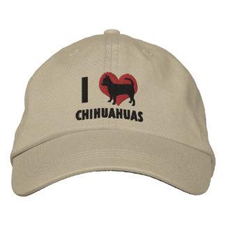 J'aime le casquette brodé par chiwawas