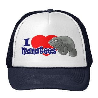 J'aime le casquette de boule de lamantins