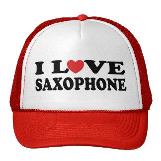 J'aime le casquette de saxophone
